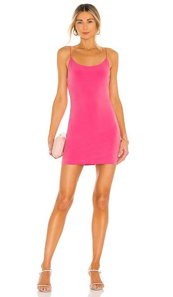 Alice + Olivia Alice + Olivia Delora Spaghetti Strap Fitted Mini Dress in Pink