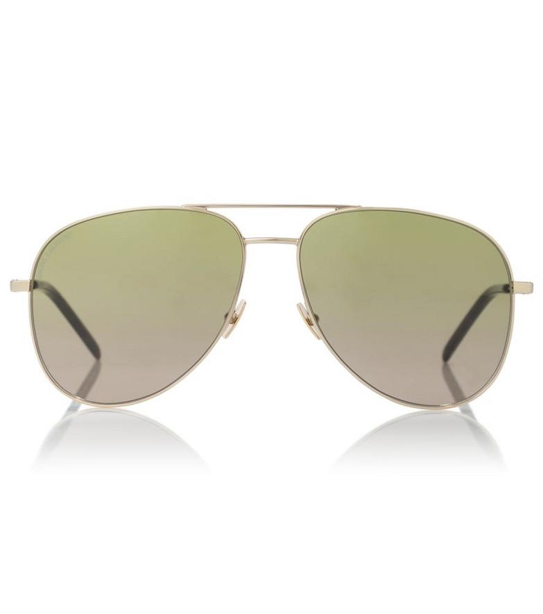 Saint Laurent Classic SL 11 aviator sunglasses in green