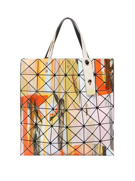 Bao Bao Issey Miyake - Gravity Paint Tote Bag - Womens - Orange Multi