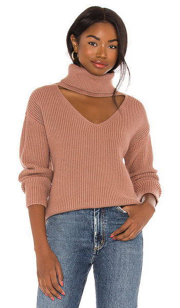 Lovers + Friends Lovers + Friends Tove Sweater in Brown in camel