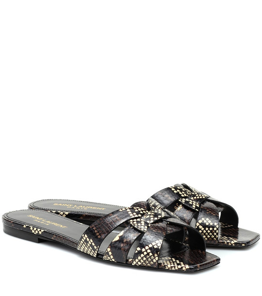Saint Laurent Nu Pieds 05 leather sandals in brown
