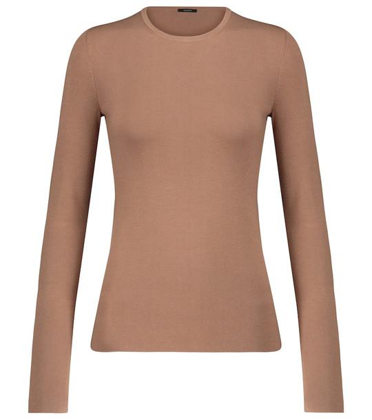 Joseph Silk-blend sweater in beige