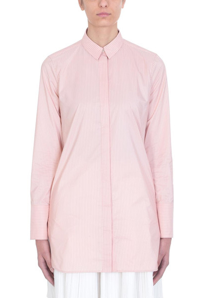 Jil Sander Francesca Stripe Pink Cotton Shirt
