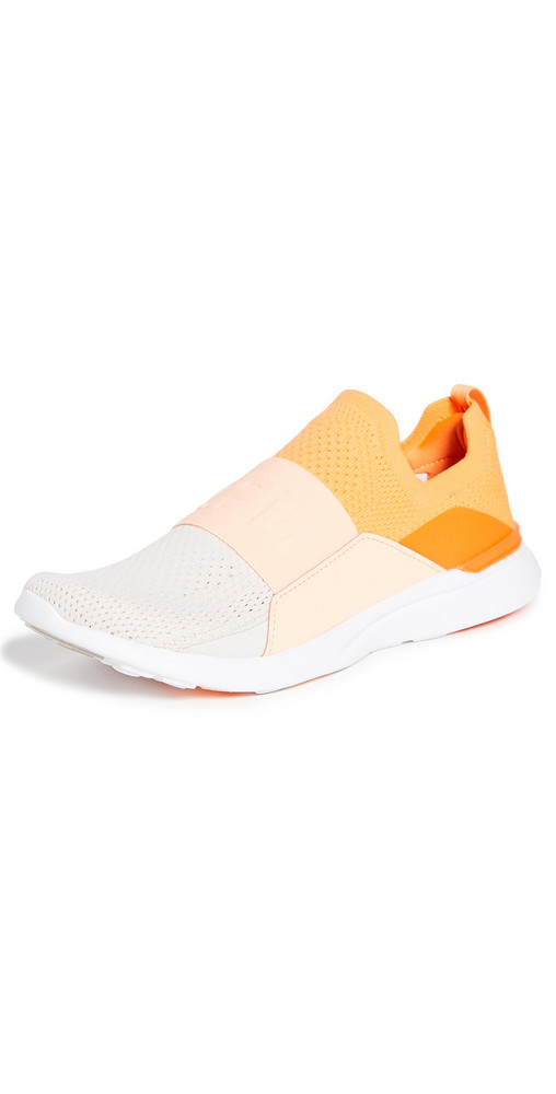APL: Athletic Propulsion Labs Techloom Bliss Sneakers in sand / peach