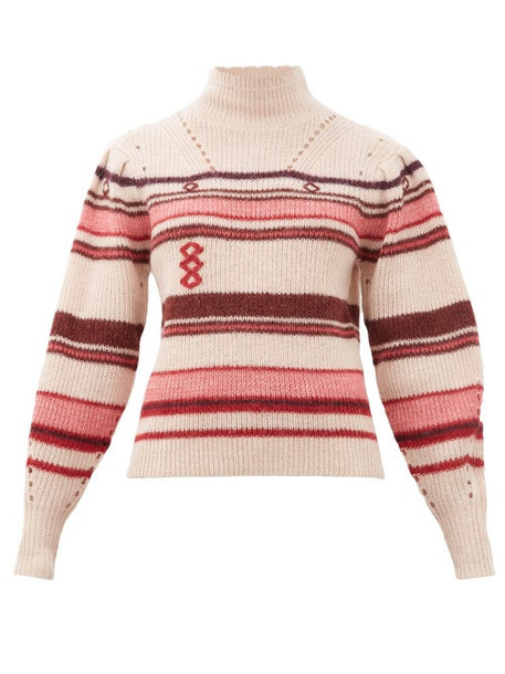 Isabel Marant Étoile - Georgie Striped Alpaca-blend Sweater - Womens - Pink Multi