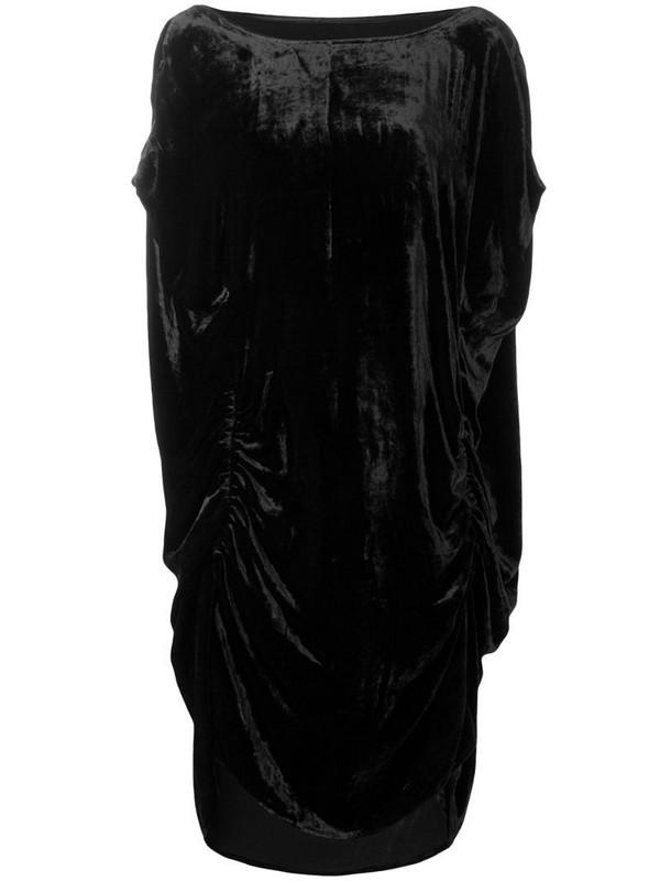 Paula Knorr ruched midi dress in black