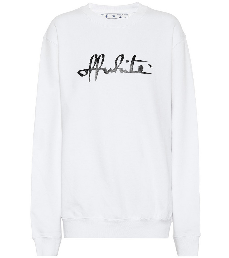 Off-White Logo oversized cotton sweatshirt in white