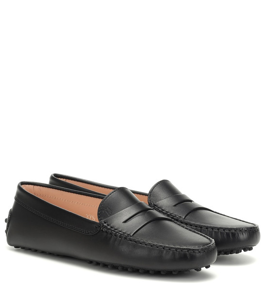 Tod's Gommino leather loafers in black