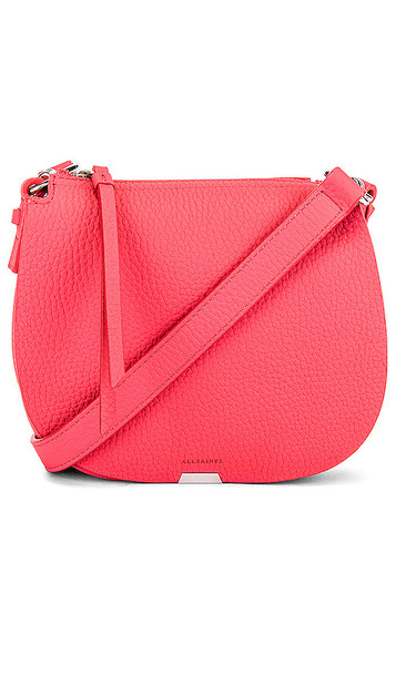 ALLSAINTS Captain Lea Small Round Crossbody in Pink