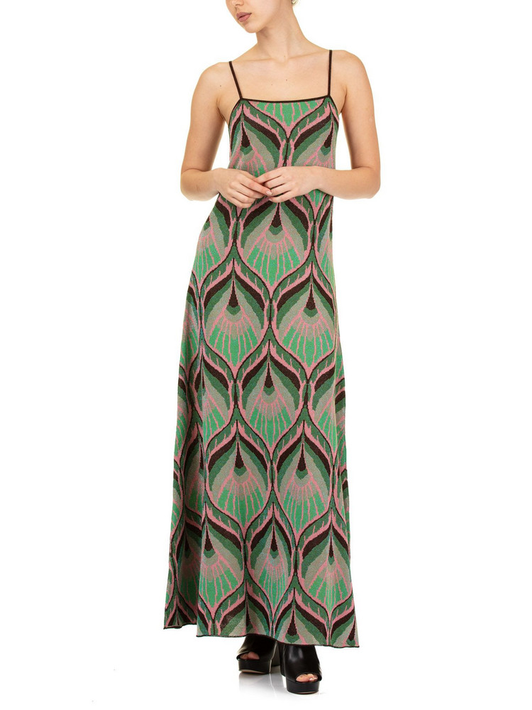 Circus Hotel Lurex Jacquard Dress in green
