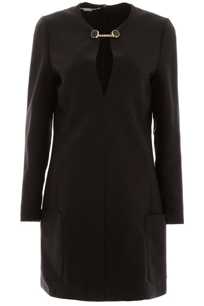 Stella McCartney Crepe Mini Dress in black