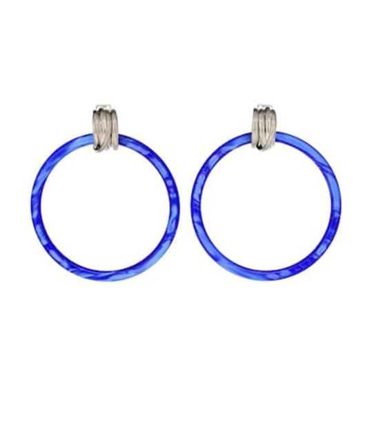 Balenciaga Hoop earrings in blue