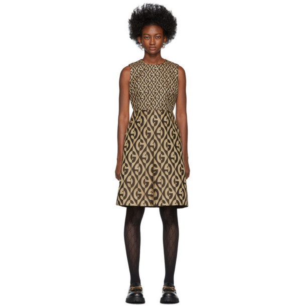 Gucci Beige and Brown GG Dress