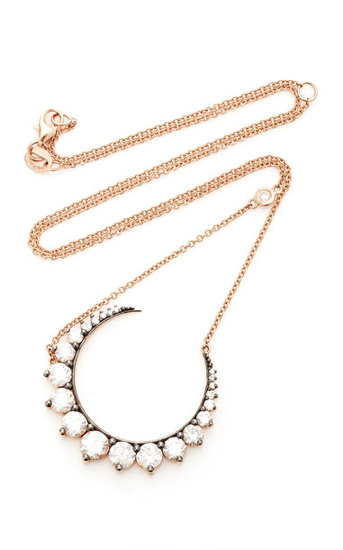 Shay 18K Rose Gold Large Crescent Moon Necklace