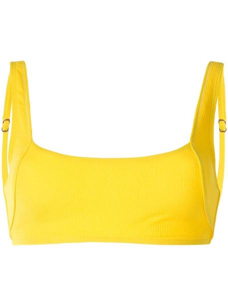 Suboo Ines square bikini top in yellow