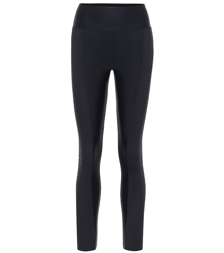Lanston Sport High-rise performance leggings. in black