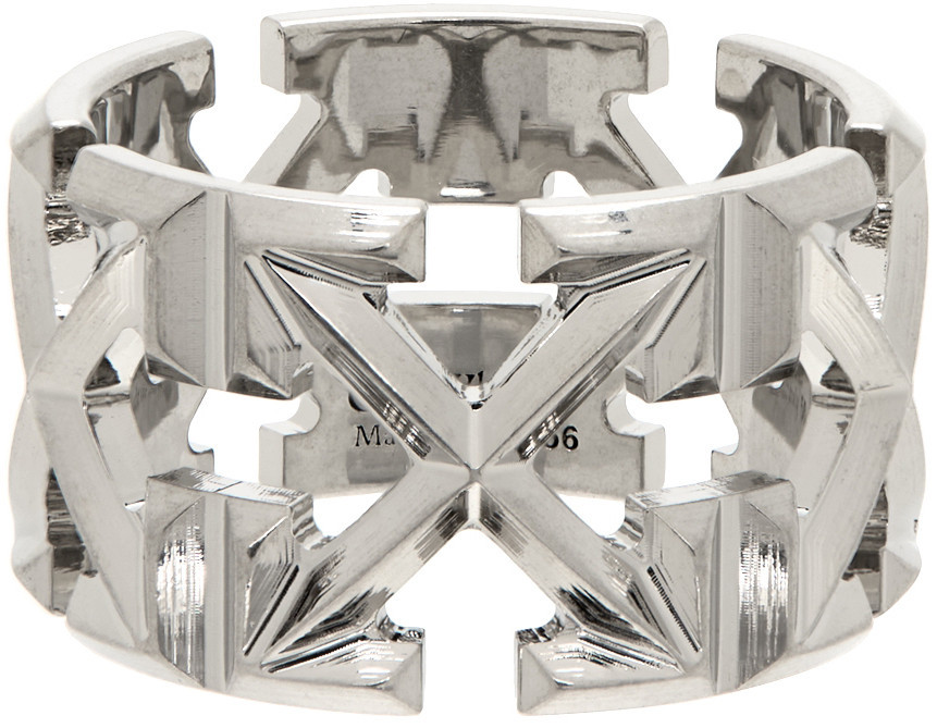 Off-White Arrows Ring in silver
