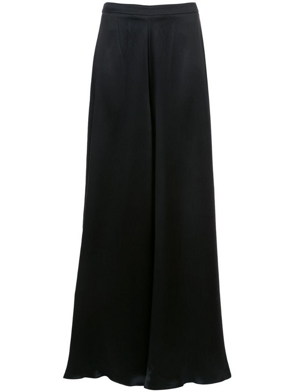 VOZ Charmeuse palazzo trousers in black