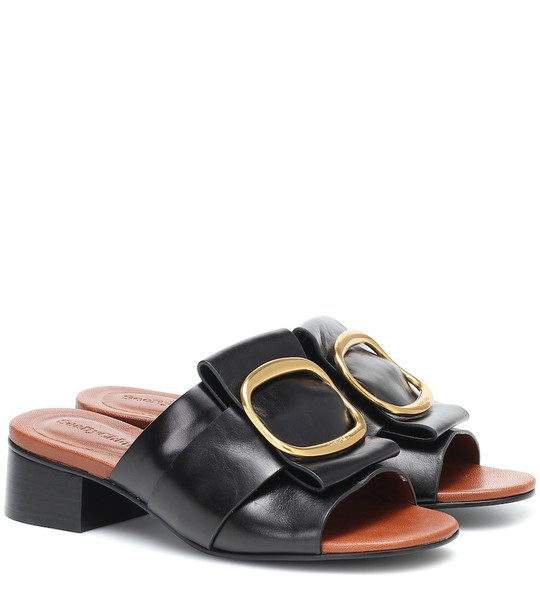 See By Chloé Leather sandals in black