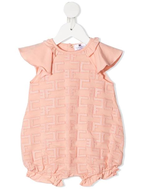 Elisabetta Franchi La Mia Bambina motif embroidered romper - Pink
