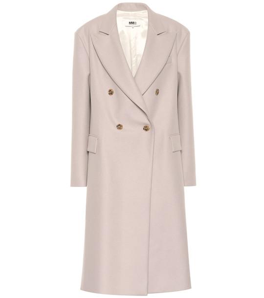MM6 Maison Margiela Wool-blend overcoat in grey