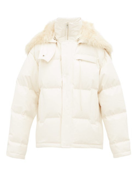 Jil Sander - Arctic Quilted Down Hooded Jacket - Womens - Light Beige