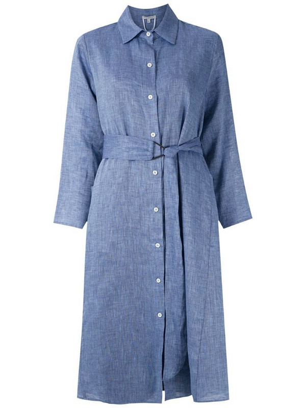 Alcaçuz belted Maria shirt dress in blue