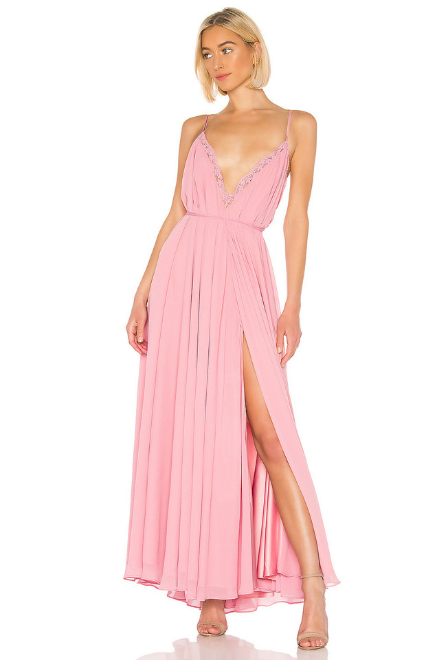 Michael Costello x REVOLVE Paris Gown in pink