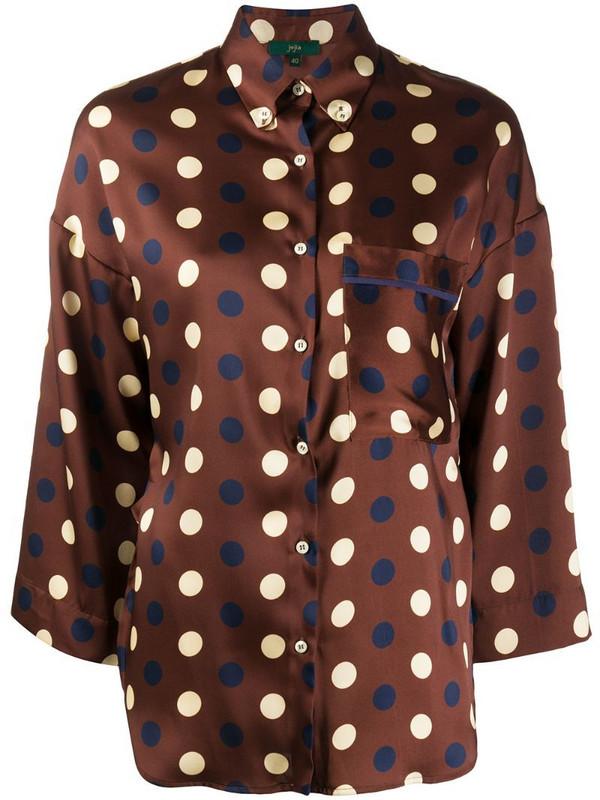 Jejia polka dot print shirt in brown