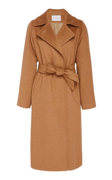 Max Mara Manuela Belted Camel Hair Coat Size: 6 in brown