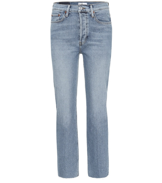 Re/Done Stove Pipe high-rise straight jeans in blue
