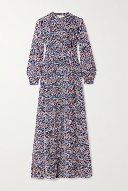 MICHAEL Michael Kors - Floral-print Georgette Maxi Dress - Navy