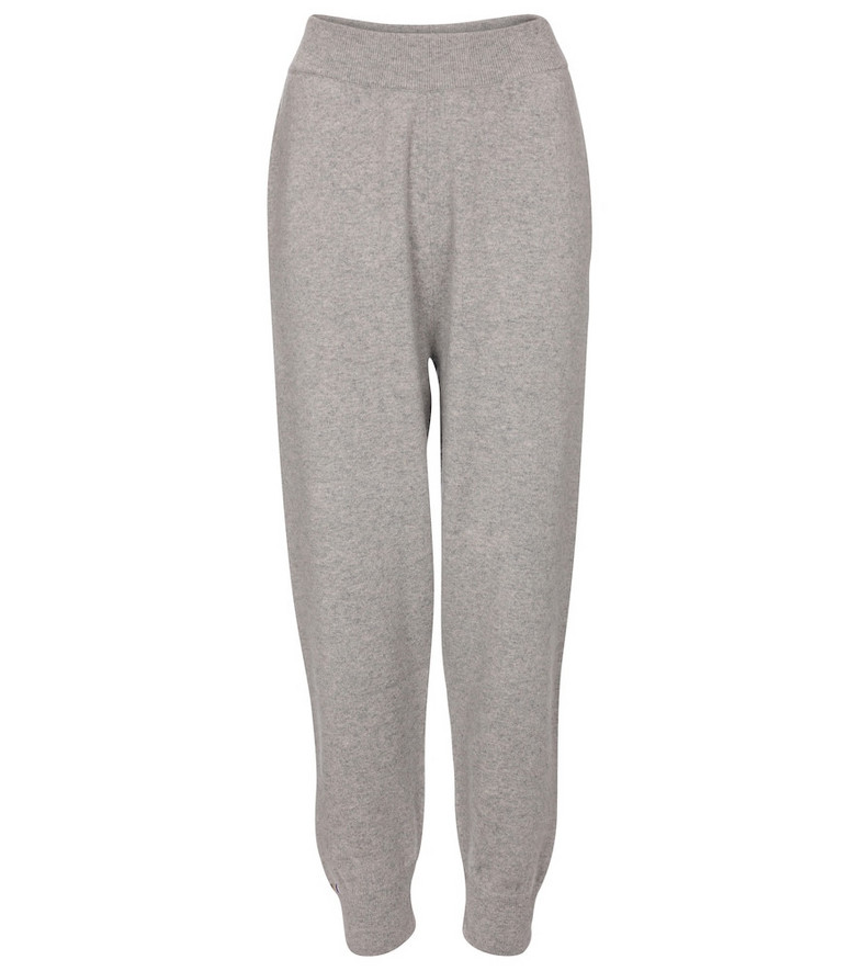 Extreme Cashmere N° 56 Yogi cashmere-blend pants in grey