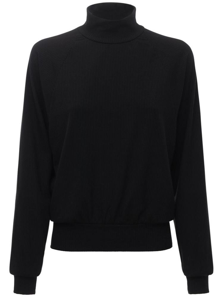 YEAR OF OURS Jane Mock Neck Sweatshirt in black