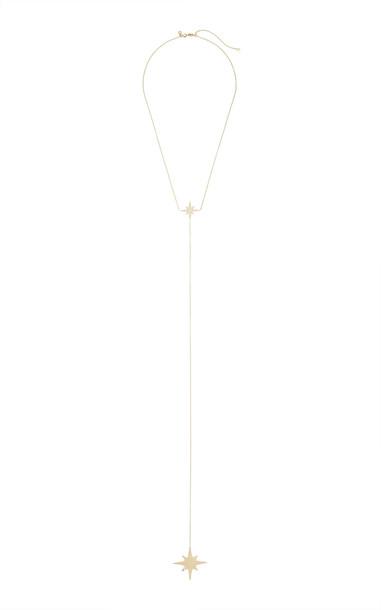 Sydney Evan Starburst Y-Necklace in gold