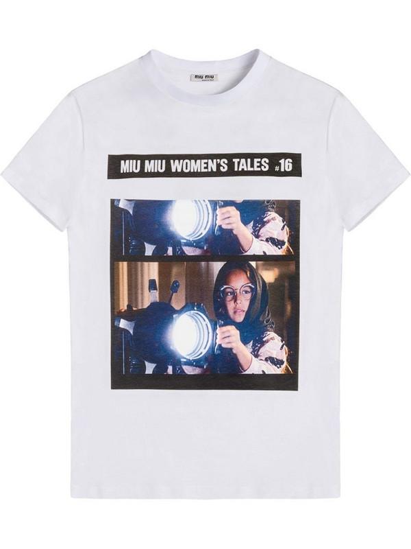 Miu Miu Tales T-shirt in white