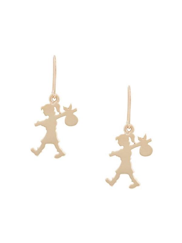 Karen Walker 9kt gold Runaway Girl earrings
