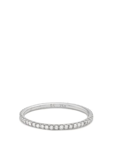 Ileana Makri - Diamond & White Gold Ring - Womens - White Gold