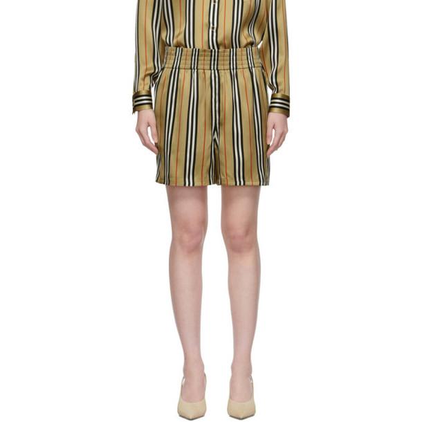 Burberry Beige Silk Marsett Shorts