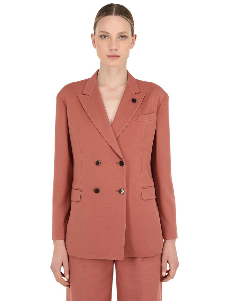 LARDINI Oversized Cotton Blend Jacket in pink