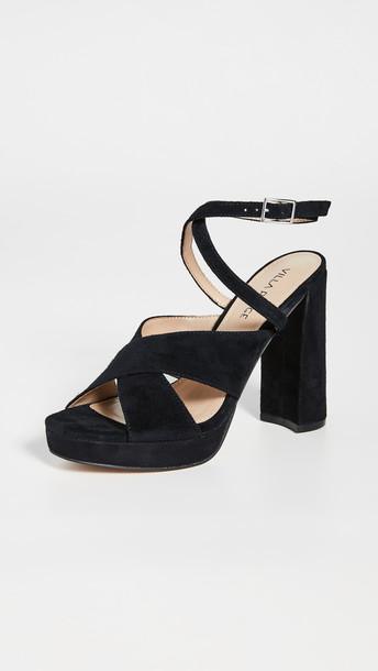Villa Rouge Geraldine Sandals in black