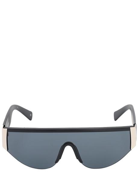 LE SPECS Viper Matte Mask Sunglasses in black / gold