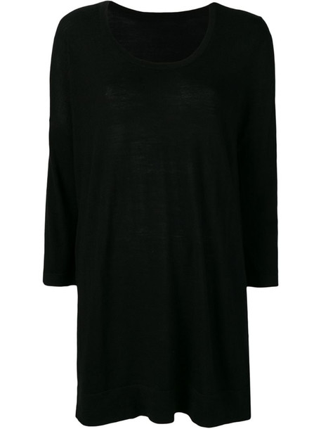 Sottomettimi longline knitted sweater in black