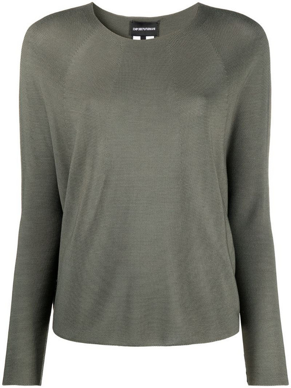 Emporio Armani round neck knitted jumper in green