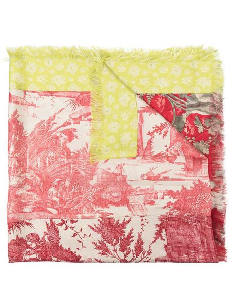 Pierre-Louis Mascia Aloeuw floral-print silk scarf in pink