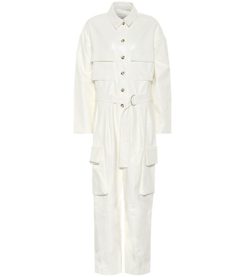 Frankie Shop Linda faux leather jumpsuit in white