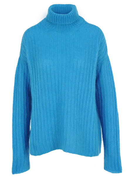 Marni Turtleneck Knit Jumper in blue