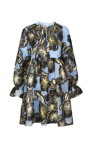 Stine Goya Ivana Floral-Jacquard Mini Dress Size: XS in blue