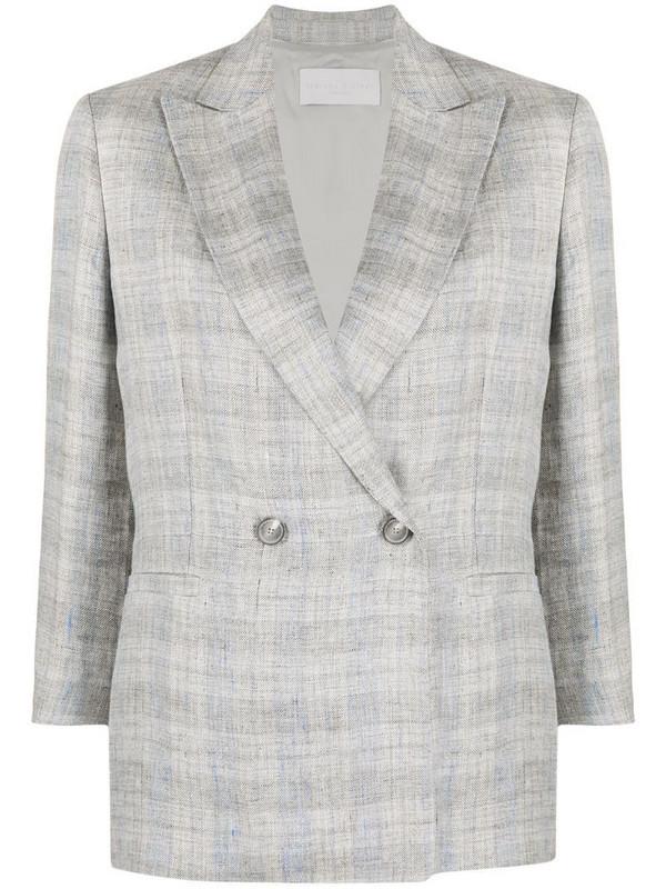 Fabiana Filippi check-print double-breasted blazer in grey