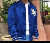 jacket,bleu,satin bomber